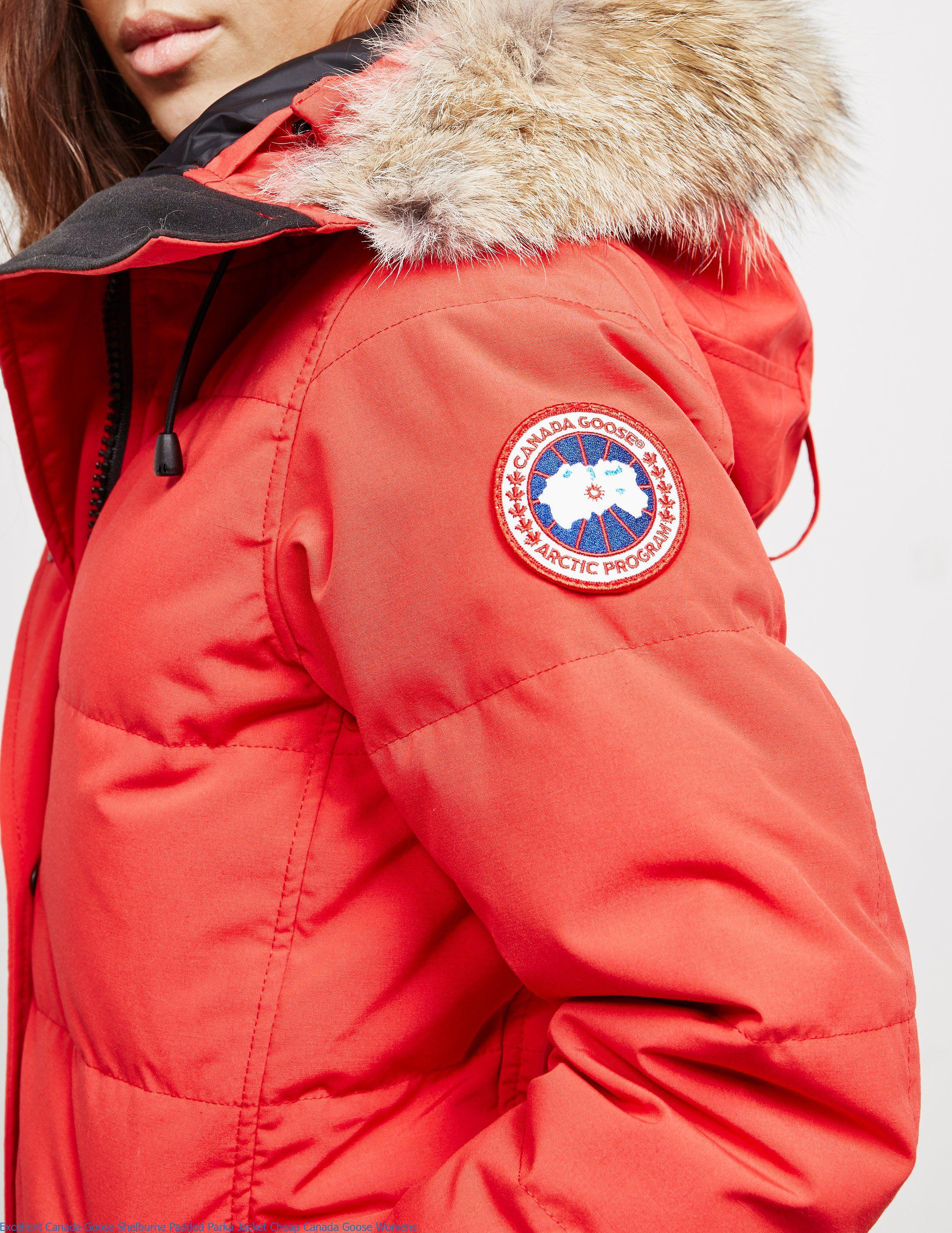 Excellent Canada Goose Shelburne Padded Parka Jacket Cheap Canada Goose  Womens 117d9203f8
