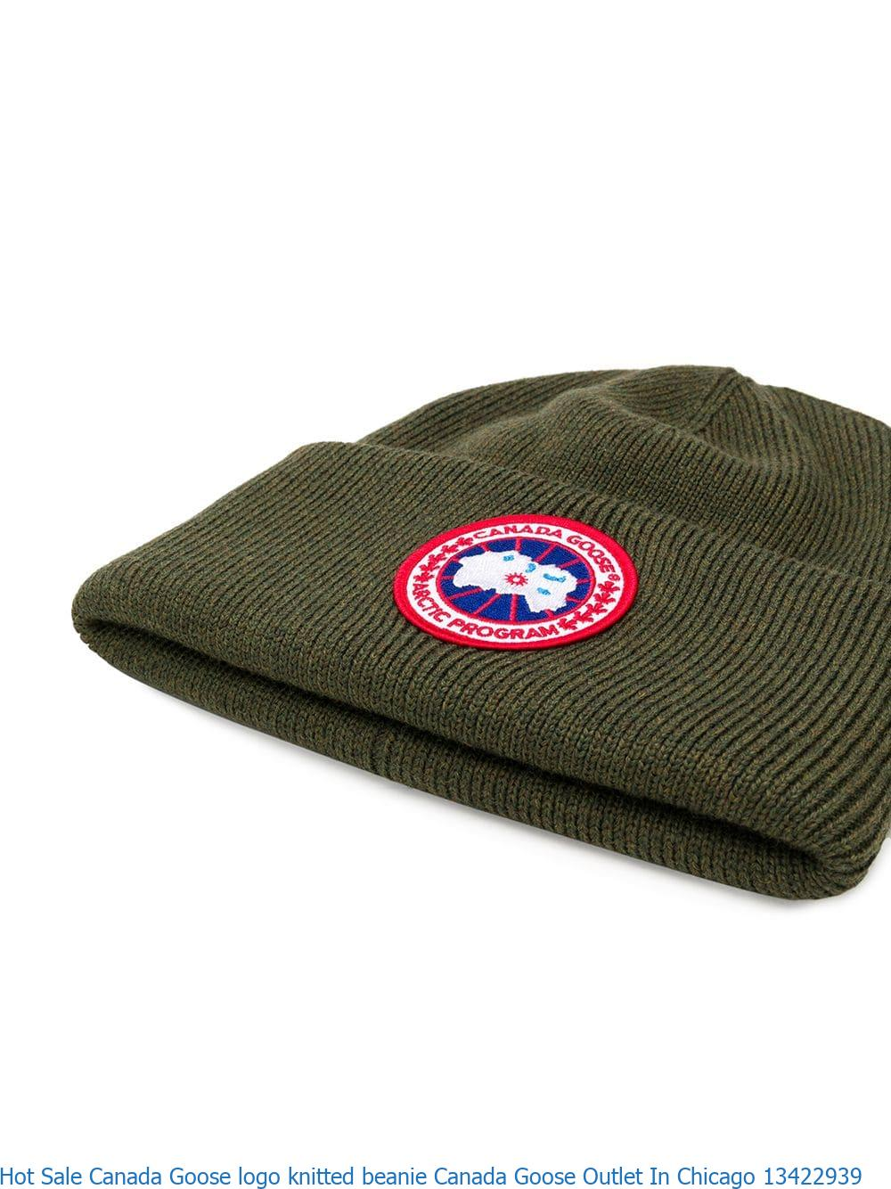 1dbb0e908 Hot Sale Canada Goose logo knitted beanie Canada Goose Outlet In Chicago  13422939