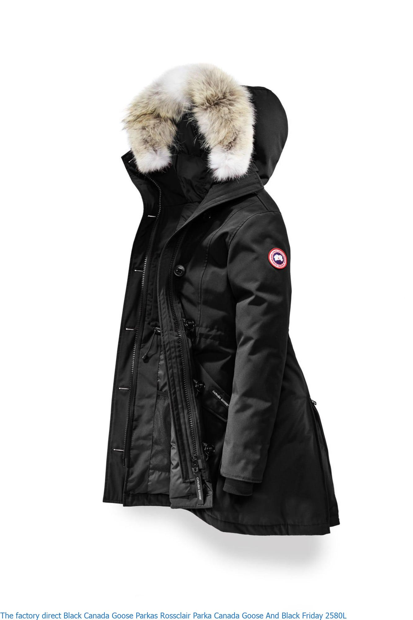 The Factory Direct Black Canada Goose Parkas Rossclair Parka Canada Goose And Black Friday 2580l Canada Goose Sale Outlet Cheap Parka Online Shop Free Shipping