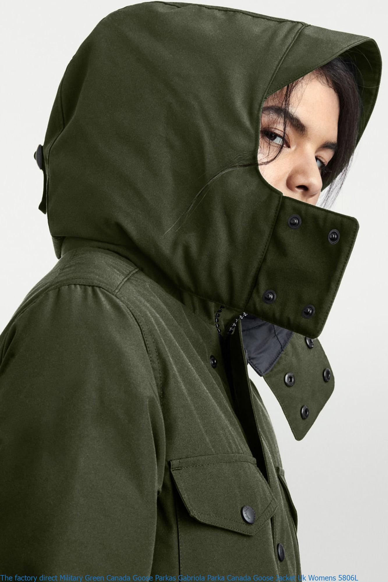 c03473fbbf2 The factory direct Military Green Canada Goose Parkas Gabriola Parka Canada  Goose Jacket Uk Womens 5806L